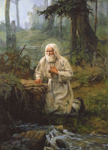 saida-afonina-st-seraphim-of-sarov-prays-on-a-rock-near-a-brook.jpg
