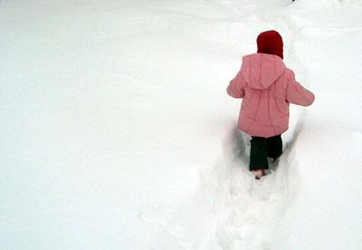 Din copilarie n-a mai nins asa…