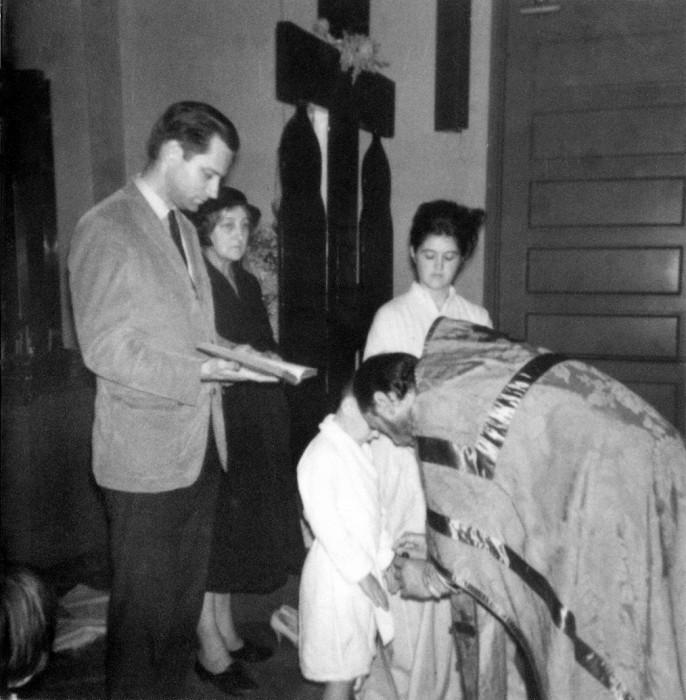 Eugene Rose la botezul lui Sașa, finul său