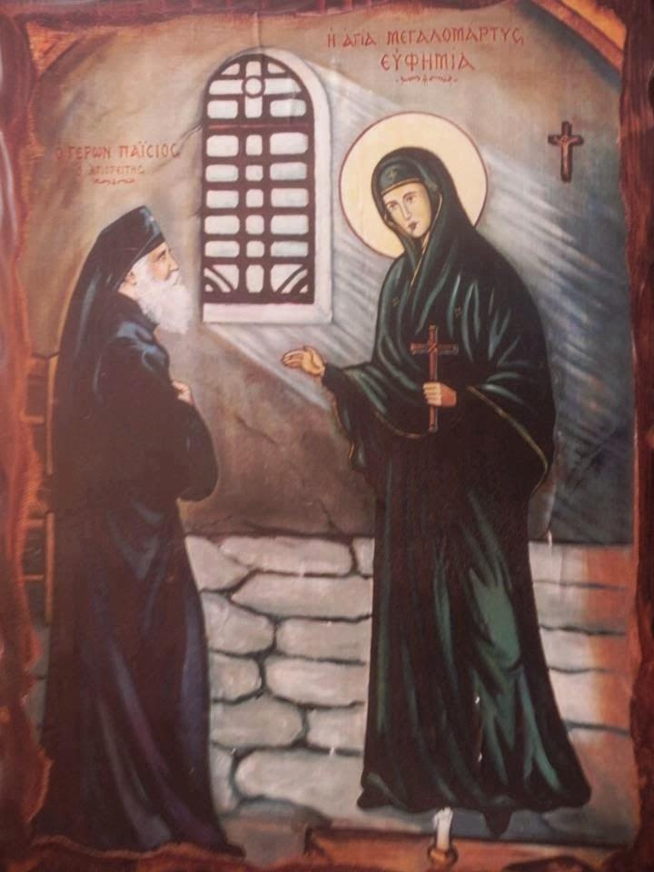 intalnirea Cuviosului Paisie cu Sfanta Eufimia