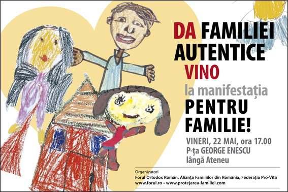VINO LA MANIFESTATIA PENTRU FAMILIE!