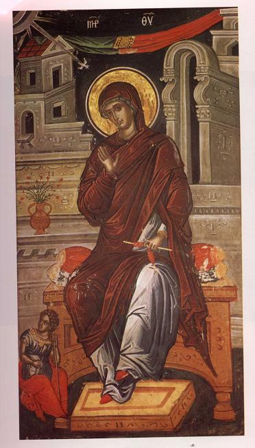 """Din Patericul Maicii Domnului (1) – <i>""""BUCURA-TE, CEEA CE ESTI PLINA DE HAR, MARIE…""""</i>"""