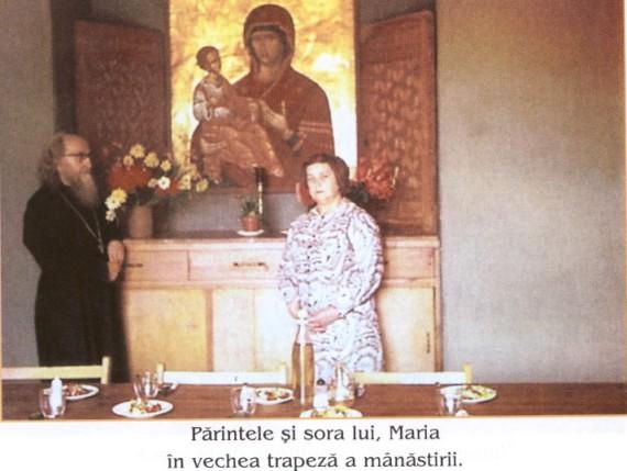 p.Sofronie cu sora sa Maria