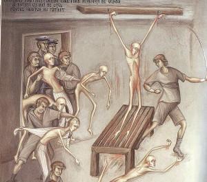 Tortura Aiud Nicolae Cracea, Mircea Vulcanescu - icoana Diaconesti