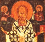 icoana Sf. Nicolae cu Hristos si Maica sa