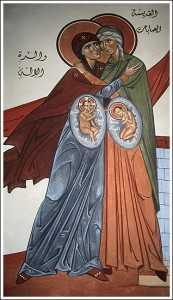 Maica Domnului si Elisabeta purtand in pantece