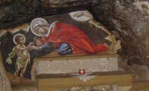 Sfanta Elisabeta il lasa pe Sfantul Ioan copil in pustie