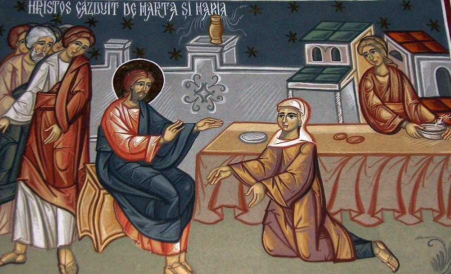 INTRAREA MAICII DOMNULUI IN BISERICA. Cuvant de invatatura al Sf. Ignatie Briancianinov la pericopa evanghelica care se citeste in toate praznicele Maicii lui Dumnezeu: <b>Marta si Maria – cele doua lucrari la care suntem chemati</b>