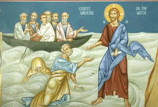 "MERSUL PE APA IN MIJLOCUL FURTUNILOR VIETII: <i>""Trebuie sa stim sa cerem ajutor. Sa intindem mana, asa cum a facut-o Petru, sa ne incredintam Domnului""</i>"