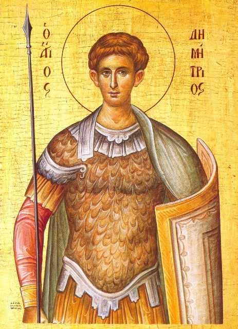 SFANTUL MARE MUCENIC DIMITRIE IZVORATORUL DE MIR (SF. DUMITRU) –  Predici ale IPS Bartolomeu Anania (video) si Parintelui Cleopa
