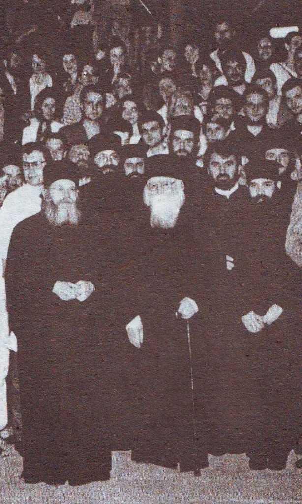 Parintele Efrem in 2000, la Bucuresti dupa conferinta de la Drept