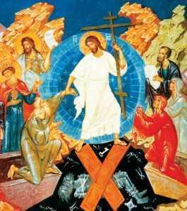 Hristos Se pogoara la iad si ii ridica pe Adam si Eva