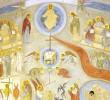 SINAXARUL DUMINICII INFRICOSATEI JUDECATI descrie A Doua Venire a lui Hristos, careia ii va premerge venirea lui Antihrist: <i>&#8220;Va fi atunci foamete mare. Va veni, asa zicand, in ajutorul poporului&#8230;&#8221;</i>