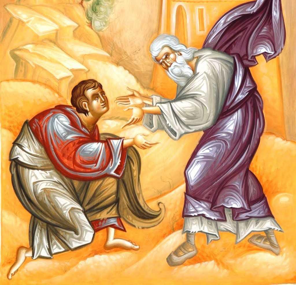 icoana de Mihai Coman intoarcerea fiului risipitor in bratele parintesti