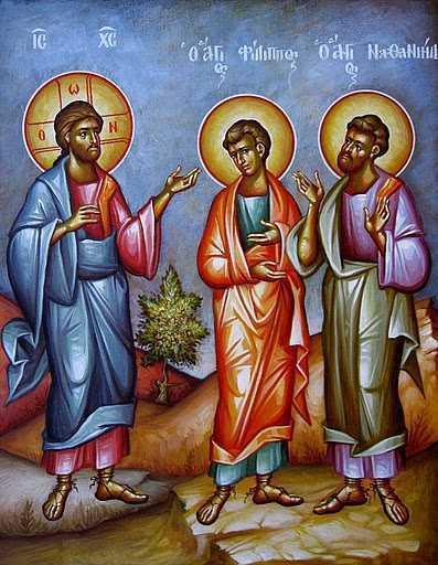 INTALNIREA IN ADANC SI DESCHIDEREA CERULUI. Talcuirea Evangheliei din Duminica Ortodoxiei – chemarea lui Filip si Natanael
