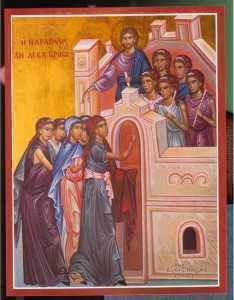 fecioarele cu candelele aprinse si Mirele Hristos
