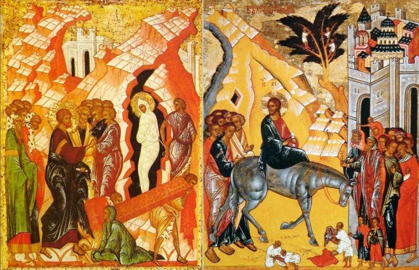 INVIEREA LUI LAZAR SI INTRAREA DOMNULUI IN IERUSALIM. Predica si talcuirea exhaustiva a IPS Hierotheos Vlachos