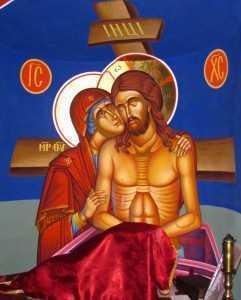 suferinta Maicii Domnului pentru Fiul rastignit