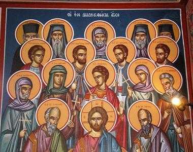 sfinti cu Hristos