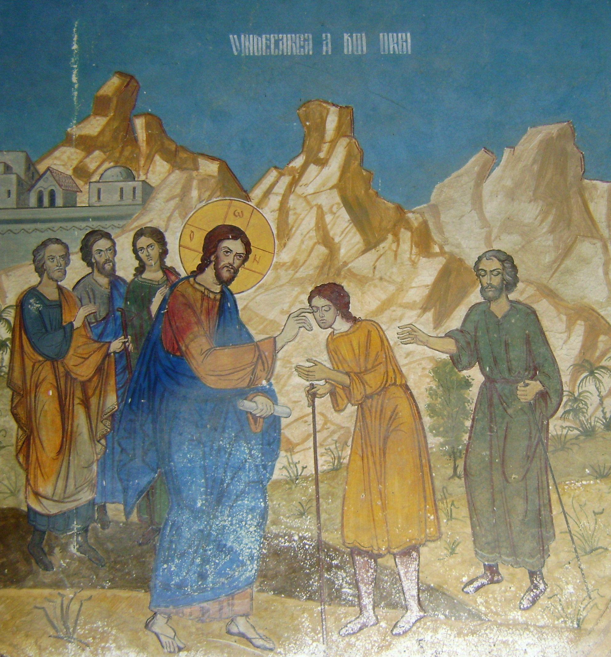 """Vindecarea a doi orbi si a unui mut. PREDICI SI MEDITATII (si AUDIO – Parintele Damaschin Luchian despre PUTEREA CUVANTULUI si IMPREUNA-SLUJIRE): <i>""""Suntem vazatori, dar nu vedem puterea lui Dumnezeu. Puterea lui Iisus este iubirea""""</i>"""