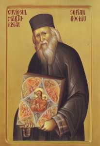 parintele Sofian - pictat de maicile de la Diaconesti