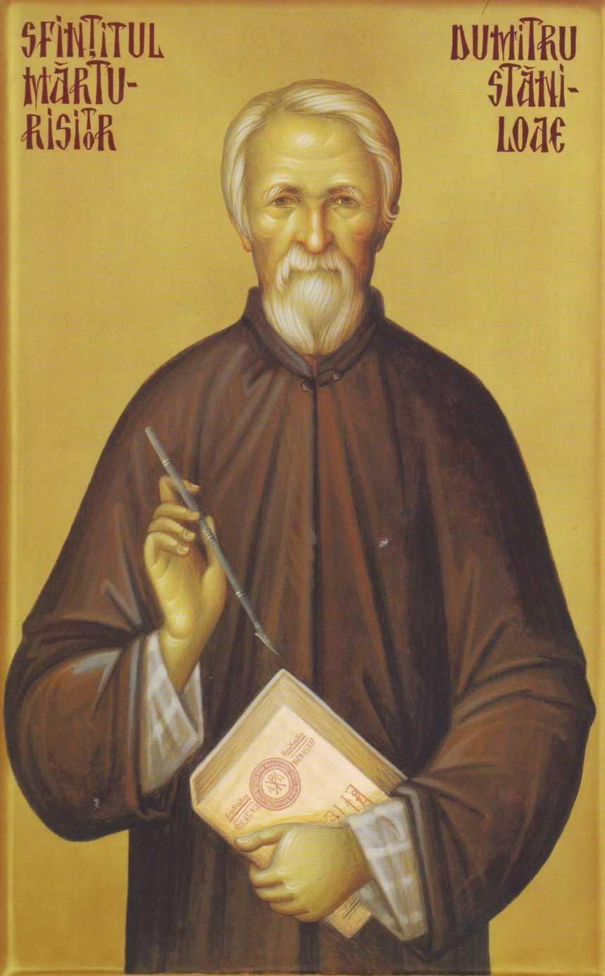 Parintele Dumitru Staniloae pictat de maicile de la Man. Diaconesti