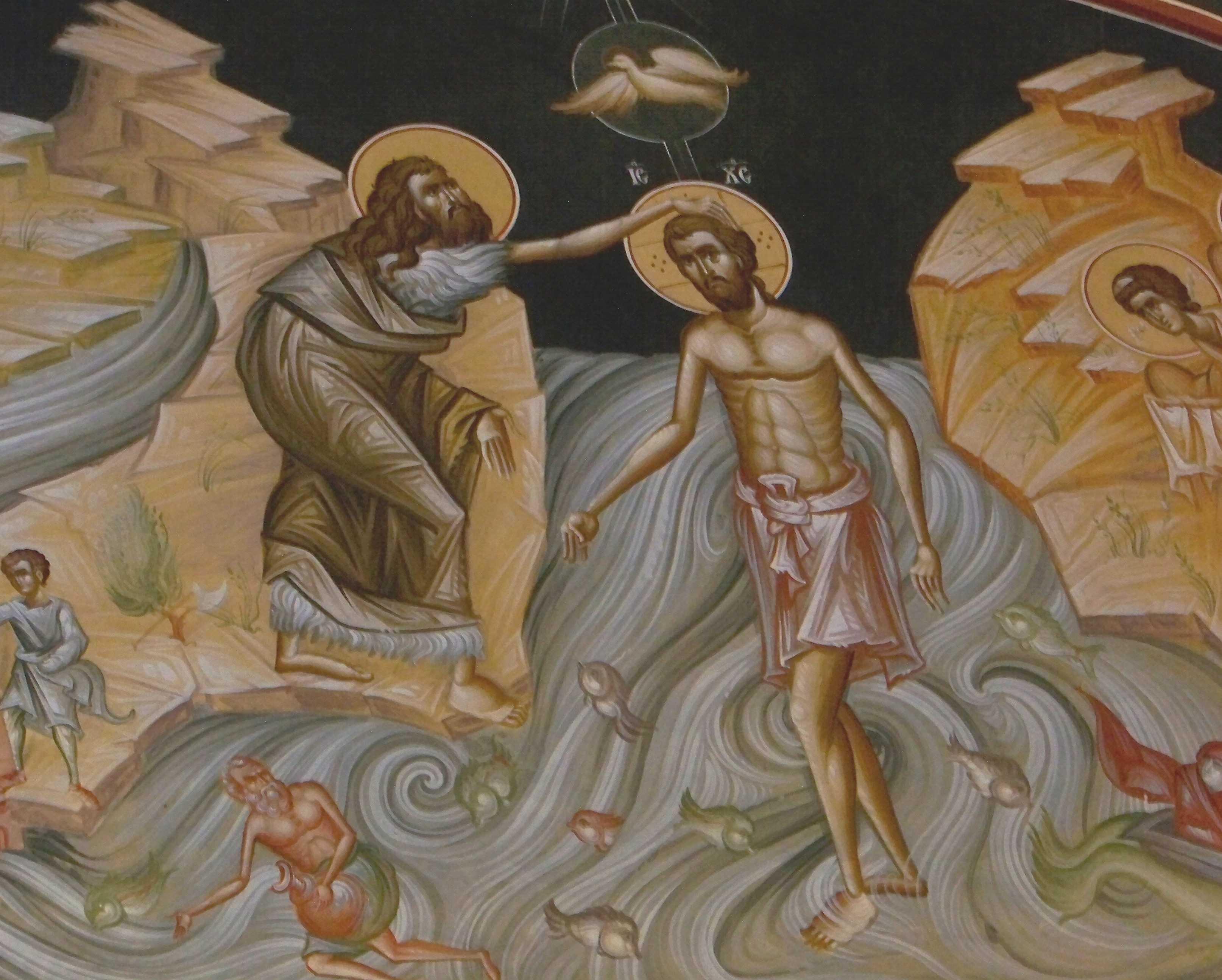 Predica si talcuire la BOTEZUL DOMNULUI a Sfantului Nicolae Velimirovici: <i>&#8220;Hristos a intrat in apa nu ca sa Se curateasca pe Sine, ci ca sa inece simbolic pe omul cel vechi&#8221;</i>. MINUNATA SMERENIE A LUI DUMNEZEU