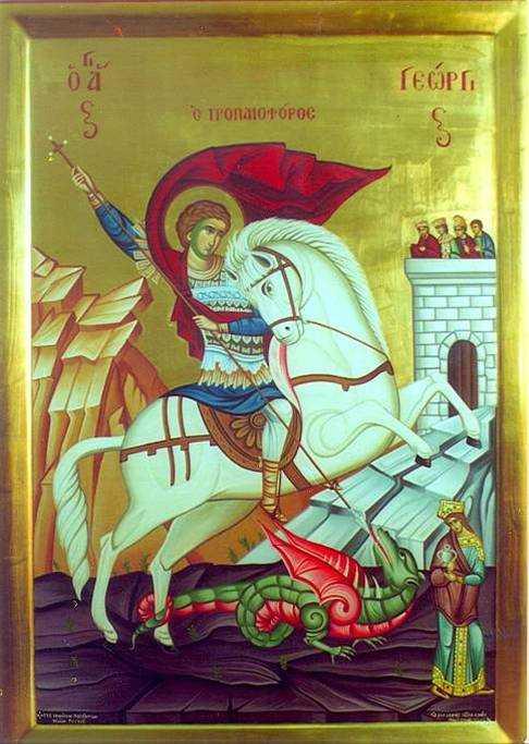 """<b>Parintele Dimitrios Gagastathis, ajutorul viu al sfintilor si MINUNILE SFANTULUI GHEORGHE</b>: <i>""""Ce ziceti, este Sfantul Gheorghe aici, sau nu este?""""</i>"""