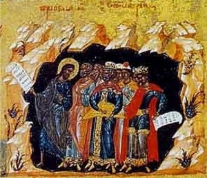 Christ leads the Righteous out of hades