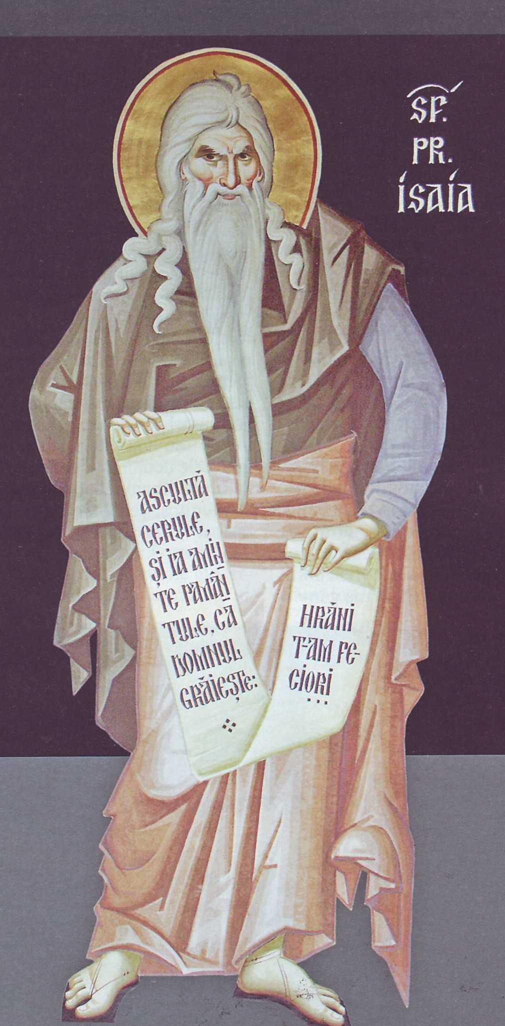 """SFANTUL PROOROC ISAIA: <i>""""Veniti să umblam in lumina Domnului!""""</i>"""