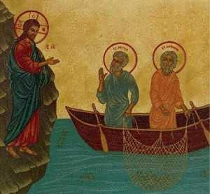 Christ calls Andrew and Peter