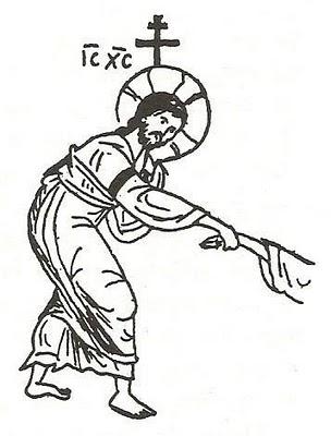 detaliu desen Inviere Hristos intinde mana