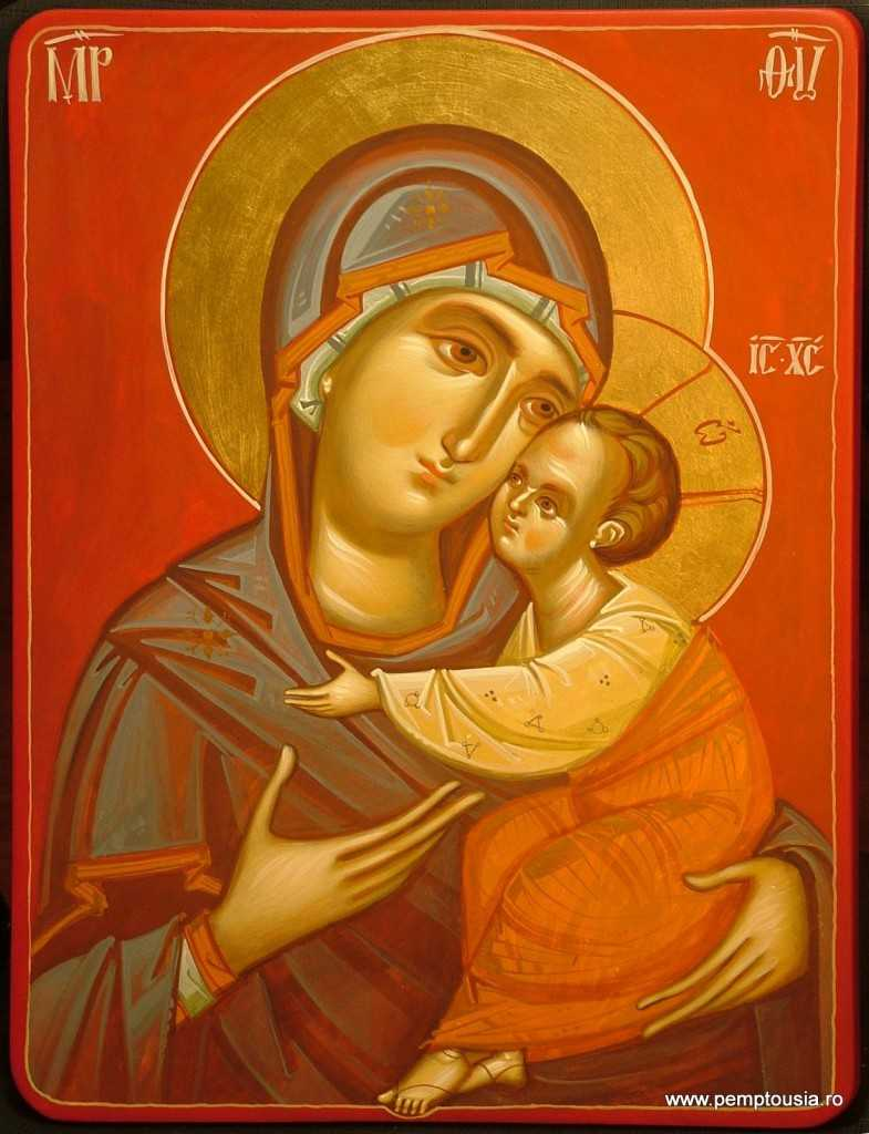 Mother-of-God-with-Child-egg-tempera-on-wood-2008