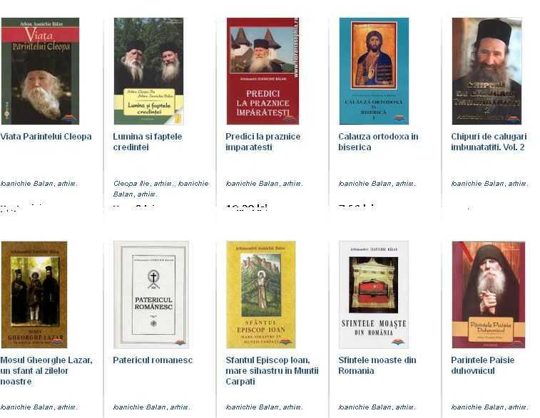 captura carti p. Ioanichie Balan - Sophia