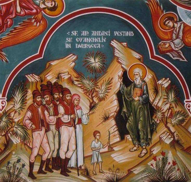 SFANTUL APOSTOL ANDREI, Parintele crestinismului romanesc si SFANTUL ANDREI SAGUNA, apostolul tare al Ardealului – chemari la ASUMAREA CONDITIEI DE CRESTIN in vremurile zeificarii pacatului