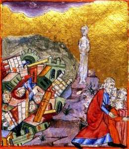 The Destruction of Sodom and Gomorrah The Golden Haggadah, c. 1320
