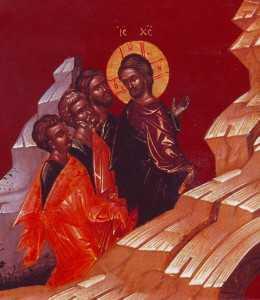 Hristos cu Petru, Ioan si Iacob in Ghetsimani