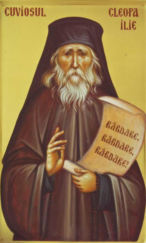 parintele Cleopa pictat la Manastirea Diaconesti