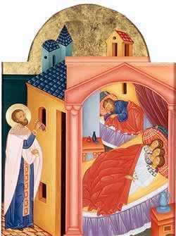 Sfantul Nicolae arunca aur tatalui celor 3 fecioare