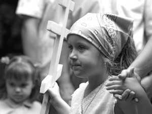 copiii la slujbele bisericii