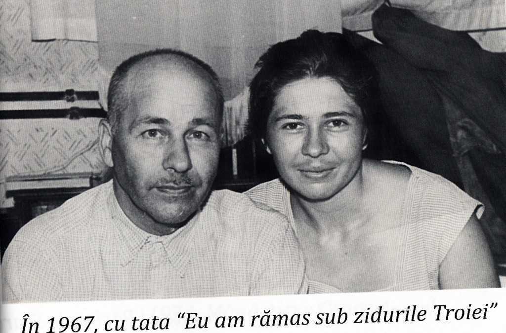 Galina Raduleanu cu tatal ei, preotul Boris, in 1967