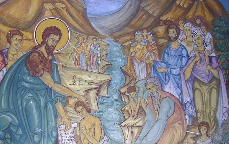 Ioan boteaza spre pocainta in Iordan, Cernica