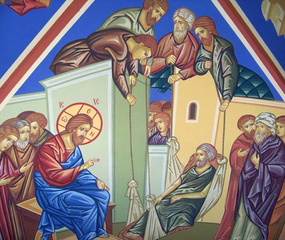 """NU TE DA BATUT IN LUPTA CU TINE INSUTI, NU ABANDONA DRUMUL LA JUMATATE! Prietenii paraliticului din Capernaum: <b>conditia hotararii neabatute si a statorniciei in viata duhovniceasca</b>: <i><b>""""Lucreaza dupa putere!""""</b></i>"""