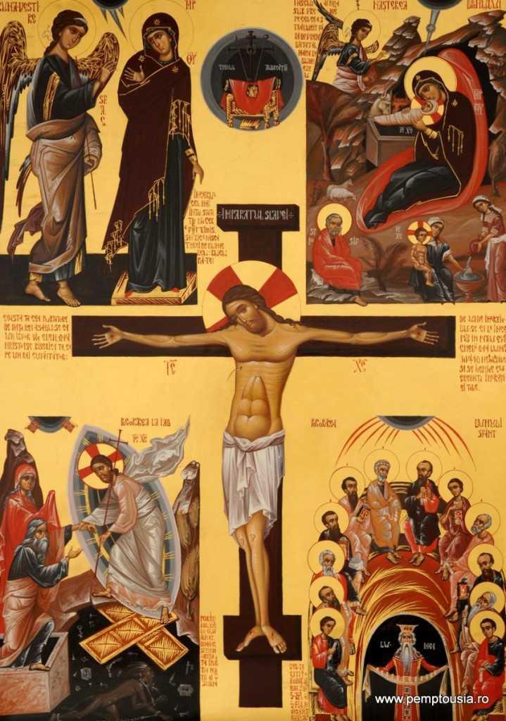 28-Hristos-pe-cruce-tempera-pe-lemn-70x50cm-2010-719x1024