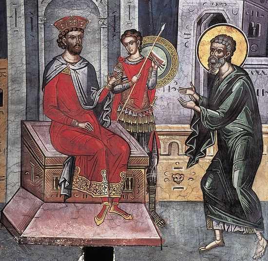 Iosif arimateianul la Pilat cerand sa ingroape trupul lui Iisus