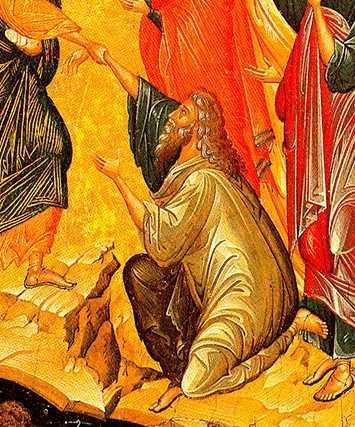 Adam ridicat din iad de Hristos - detaliu Inviere