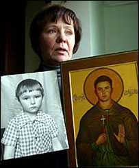 evgenys mother with icon
