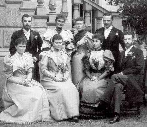 Sfântul ţar Nicolae al II-lea şi Sfânta ţarină Alexandra, Sfânta Elisabeta Feodorovna, ducele Serghei Alexandrovici Romanov