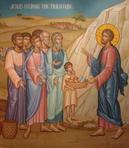 Iisus hranind multimile