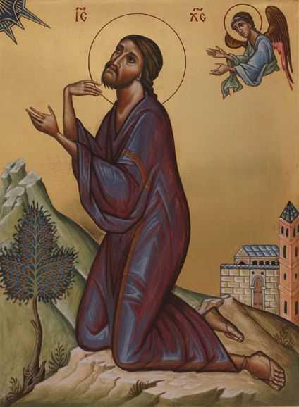 Iisus - rugaciune in Ghetsimani